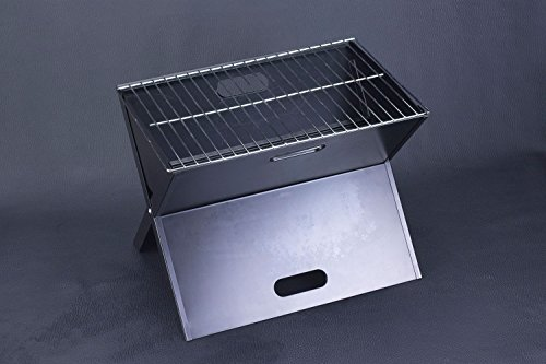FlyingColors-Barbecue-BBQ-Grill-Stainless-Steel-Portable-Folding-Charcoal-Grill-for-Cookouts-Tailgate-Parties-Car-Camping