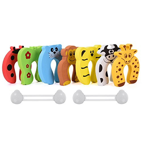 InnoBeta-Babyschutz-Trstopper-Baby-Fingereinklemmschutz-Handsicherheitstrstopper-in-Cartoon-Tierformen-7-Stck-pro-Set-2-Kindersicherungen-als-kostenloses-Geschenk