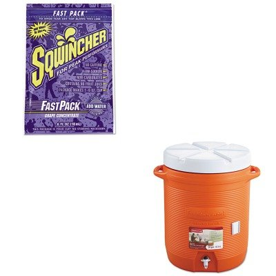 Kitrub1610Orgsqw015302Gr - Value Kit - Sqwincher Corp Fast Pack Drink Package (Sqw015302Gr) And Rubbermaid Insulated Beverage Container (Rub1610Org)