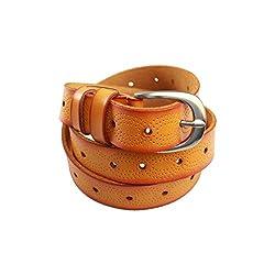 Lion Heart Women, Girls Casual Tan Genuine Leather Belt