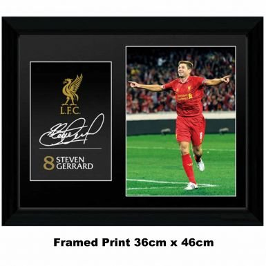 Steven Gerrard & Liverpool FC Framed Print