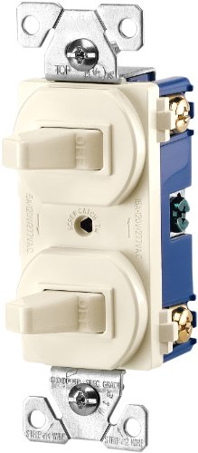 Cooper Wiring Devices 271La 15-Amps 120/277-Volt Traditional Heavy Duty Grade Two Single-Pole Switches, Light Almond