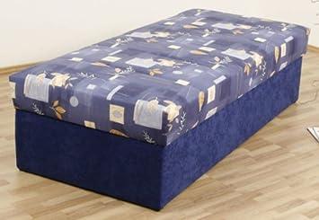 Dreams4Home, Polsterbett, 'Kampen-54', 80, 90, 100, 120, 140x200 cm, blau, Liegefläche:90x200;Komfortvariante:Typ A (bis 140x200)