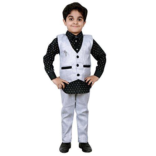 ahhaaaa's Kurta, Pant with Waistcoat for Boys (1-7 Years)