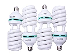StudioPRO 4x 85W Bulb Full Spectrum CFL Photo Video Light, 5500K Daylight, 4 Pack
