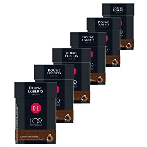 Order Douwe Egberts L'OR Espresso Forza, Pack of 6, 6 x 10 Capsules, Nespresso compatible by Douwe Egberts
