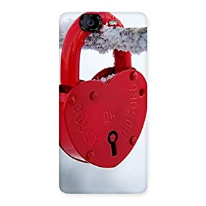 Enticing Red Lock Multicolor Back Case Cover for Canvas Knight A350