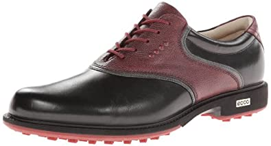 Buy ECCO Mens Tour Hybrid Saddle Golf Shoe by ECCO
