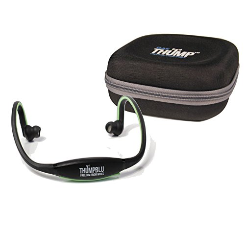 Thump Blu | Black/Green Wireless Sport Headphones W/Case
