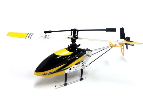 AirMax Mini Single Blade RC 3CH Gyro Helicopter 9103 with Servo (Color may vary)