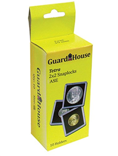 10 Guardhouse plastic 2x2 coin holders: American Silver Eagles