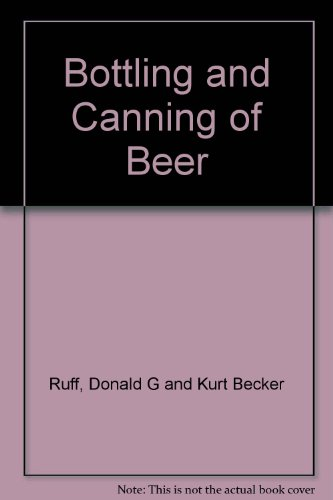 Bottling and Canning of Beer PDF
