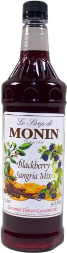 Monin Sangria Blackberry Flavor Syrup 1 Liter