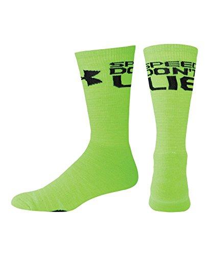 Under Armour Men'S Ua Speed Don'T Lie Crew Socks Large Hyper Green