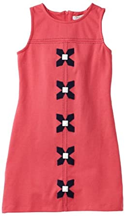 KC Parker Big Girls' Big Girls' Ponte Sleeveless Dress, Honeysuckle, 8