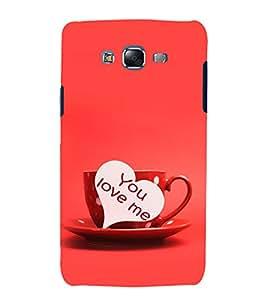 printtech Love Heart Couple Cup Back Case Cover for Samsung Galaxy Quattro i8552 / Samsung Galaxy Quattro Win i8552