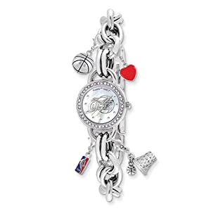 Ladies NBA Los Angeles Clippers Charm Watch by Jewelry Adviser Nba Watches