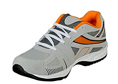 Jollify mens Mesh Textile Grey sport shoes