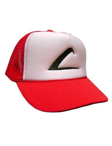 Swagge Brand Embroidered Trainer Hat - One Size - Red - White (Red Pokemon Hat compare prices)