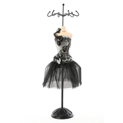 Mannequin porte bijoux - H. 41 cm - Noir
