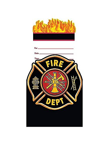 Creative Converting BB895556 Fire Watch Pop-Up Invitation -8 Pack