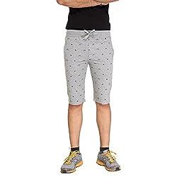 Bongio Mens Printed Cotton Knitted Shorts (Medium)