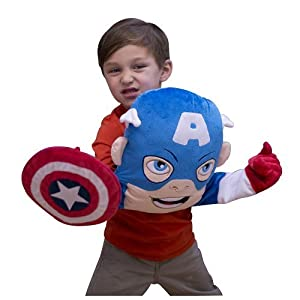 Super Hero Squad Captain America Puppet Pillow by Stevens Baby Boom