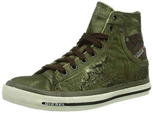 Diesel - Sneaker, Donna, Verde (Grün (T7434)), 40