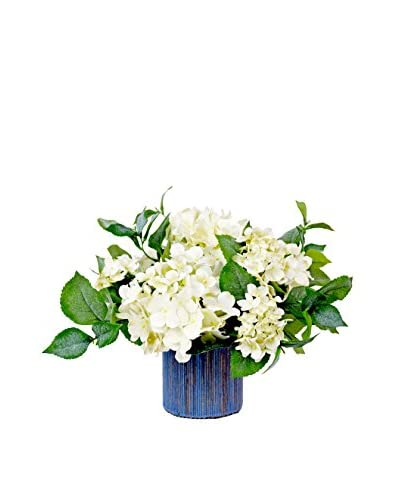 Creative Displays Inc. Garden Hydrangea Planter, White/Blue/Green As You See