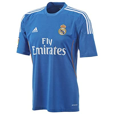 adidas Real Madrid Official Away Soccer Jersey 2013-14 (Airforce Blue/White) X-Large