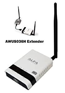 Alfa R36 802.11 b, g N, Repeater and Range Extender for AWUS036H can also be used as a 3G Router - Enables you to Extend to Signal that is picked up by the AWUS036H and distribute the internet to multiple Users (Desktops, Laptops, tablets, iPods or iPad) - AWUS036H is Not Included