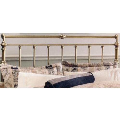 Hillsdale Furniture 186-46 Charleston Headboard, Antique Brass front-986270