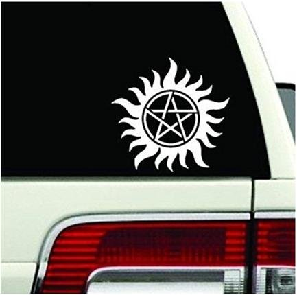 Anti Possession Symbol Decal Sticker Supernatural for Car Windows Truck Room Catholic Voodoo Demons (5.5
