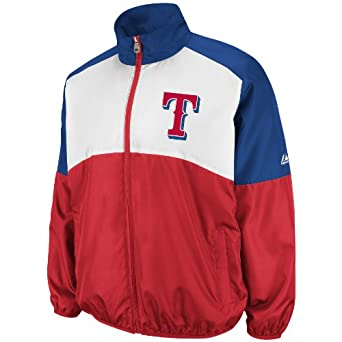 MLB Texas Rangers Sports Night Lightweight Full Zip Jacket by Majestic