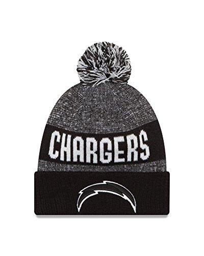 san-diego-chargers-black-on-field-2016-sport-knit-sideline-beanie-nfl-cap-hat-new-era
