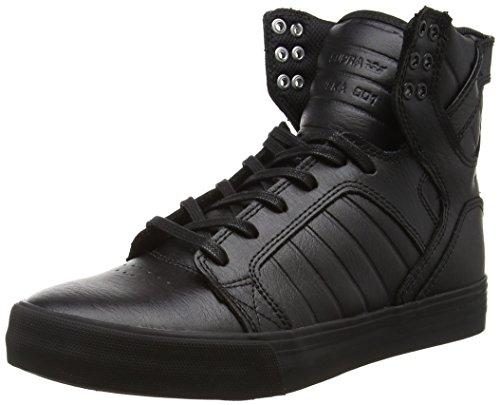 Supra SKYTOP, Sneaker uomo Taglia scarpa, Nero (Schwarz (BLACK / BLACK - RED RCS)), 43 EU