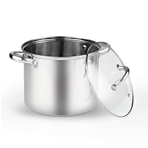 Cook N Home 2480 Stockpot with Lid, 6.5 quart, Stainless Steel