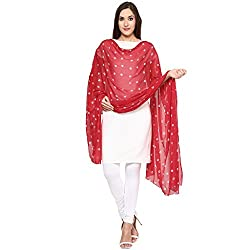 Veera Paridhaan Red Colour Printed Dupatta