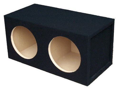 Absolute Usa Dss12 Dual 12-Inch, 3/4-Inch Mdf Sealed Subwoofer Enclosure With Absolute Usa Logo