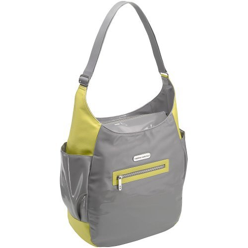 Adelina Madelina I'll Handle It Hobo Diaper Bag - Citron/Slate - 1