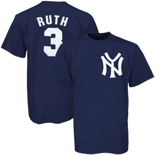 Babe Ruth New York Yankees Cooperstown Name and Number T-Shirt (Large) at Amazon.com
