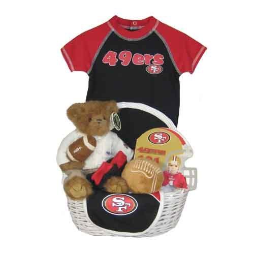 Baby Gift Baskets San Francisco : San francisco ers baby gift basket touchdown tobias