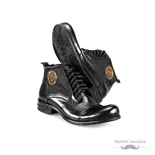 Modello Vieste - 44 UE - fatti a mano scarpe di cuoio italiane Colorful scarpe stivali da uomo Up casual formale Premium Unique Vintage Alti merletto delle