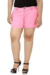 LastInch Neon Pink Hot Pants_LIBO713-XL