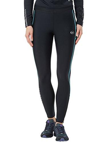 Ultrasport Pantaloni Jogging per Donna con Funzione Quick Dry, Lunghi, Nero/Turquoise, M