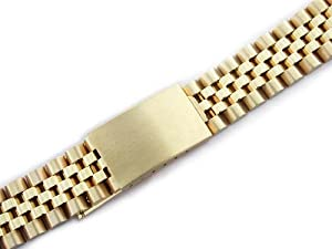 Mens 14ky Jubilee Watch Band for Rolex 19mm Date