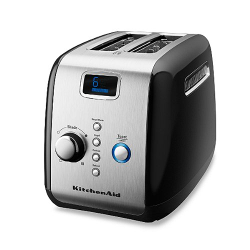 Kitchenaid® Black 2-Slice Digital Motorized Toaster