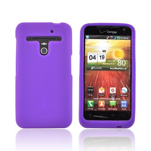 Purple-Silicone-Skin-Case-Cover-For-LG-Revolution-VS910-LG-Esteem