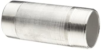 "Aluminum Pipe Fitting, Nipple, Schedule 40, 4"" NPT Male X 6"" Length"