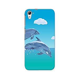 ArtzFolio Low Poly Dolphins Jumping : HTC Desire 826 Matte Polycarbonate ORIGINAL BRANDED Mobile Cell Phone Protective BACK CASE COVER Protector : BEST DESIGNER Hard Shockproof Scratch-Proof Accessories